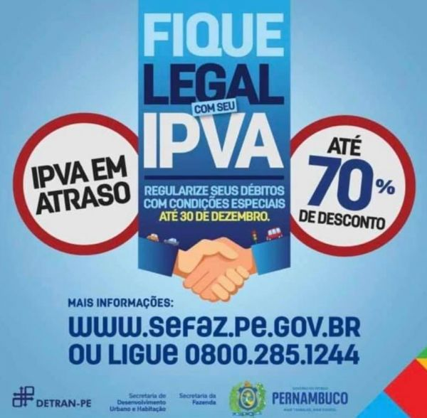 DETRAN PE / Consulta IPVA 2020